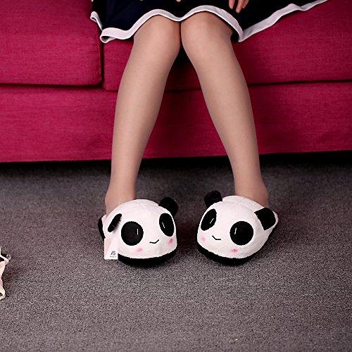 Anself Warme Hausschuhe Innenraum Slipper im Panda Design 26cm / 10.24in Typ 2
