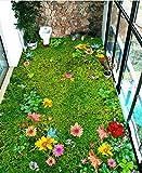 Wongxl 3D Bodenfliesen Stereo Blumen Malerei Rasen Balkon Schlafzimmer Erdgeschoss Malerei Selbstklebende Fliesen Oberfläche 300cmX250cm