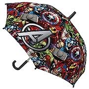 Marvel Avengers 2400-218 Ombrello, Apertura Automatica, Diametro 78 Centimetri, Bambino, Poliestere, Multicolore, Captain America, Iron Man, Thor, Hulk