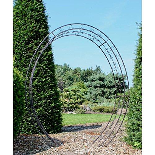 Riesiger Metall Rosenbogen - wunderschöne Garten Deko, aus Metall pulverbeschichtet - toll ALS...