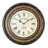 Vintage Clock Extravagant Brass Carved S...