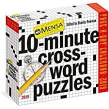 Mensa 10-Minute Crossword Puzzles Page-A-Day Calendar 2019