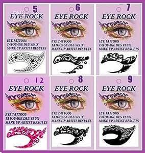 Tatouage /Maquillage yeux Tattoo Sticker temporaire n°8 /Make up artist/halloween /soiréedéguisement
