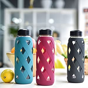 MIU COLOR 790ml Glas-Wasserflasche