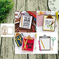 wiFndTu Cutting Dies for Card Making, Scissors Clip Metal Cutting Dies DIY Scrapbook Stencil for Album Embossing Photo Craft Paper Cards Decorative Craft for Valentine