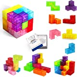 Buself Magnetische Bausteine Würfel Magnetische Steine für Kinder mit 54 Smarte Teile Puzzles 3D Gehirn Training Intelligenz
