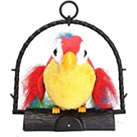 AG ?Talk Back Battery Operated Parrot Toy for Kids, Repeat Talking Toy Mimics Voice Flaps WingsMulti