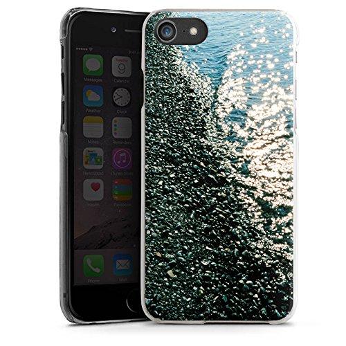 Apple iPhone X Silikon Hülle Case Schutzhülle Ufer Kiesel Wasser Hard Case transparent