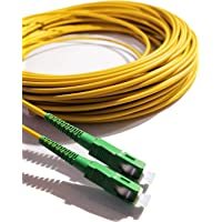 Elfcam® - Câble Fibre Optique (jarretière Optique) SC/APC à SC/APC pour Orange Livebox SFR La Box Fibre Bouygues Telecom…