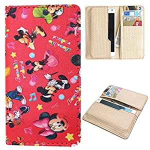 DooDa PU Leather Quality Wallet Case Cover With Card Slots Pouch For Micromax Canvas Play Q355