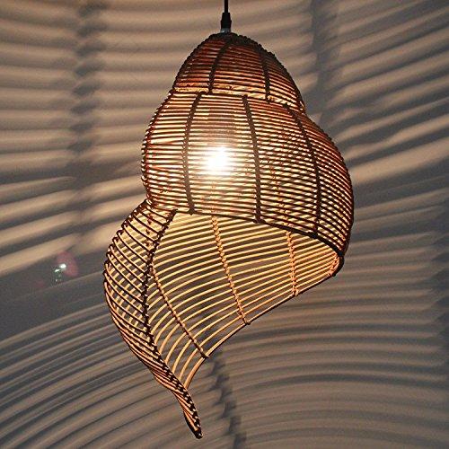 Lampadari in rattan bambù lumaca e lampadari di bambù di decorazione di interni lampade sala da pranzo Camera da letto soggiorno illuminazione lampadario rattan 35 * 50CM