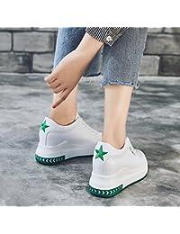 LVZAIXI Schuhe Koreanische Version Sportschuhe Mode Dicke Untere Freizeitschuhe Student Weibliche Schuhe gemütlich ( Farbe : Pink , größe : EU37/UK4.5-5/CN37 )