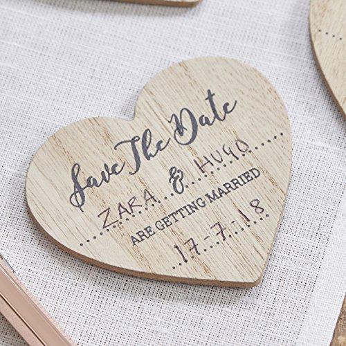 Ginger Ray Save the Date Holz Magnet Einladungen?10PACK?Schöne Botanics (Holz-save The Date)