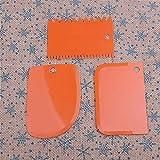 Teigschaber Teigspachtel Set aus Kunststoff Spachtel und Schaber Zum Backen Teigkarte Streichpalette für Kuchen und Torten, spülmaschinengeeignet, Gelb