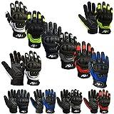 Prime Ganzer Finger Motorrad Sport Reiten Mountainbike Schutz Sommer Handschuhe 9001 - Schwarz/weiß, Small