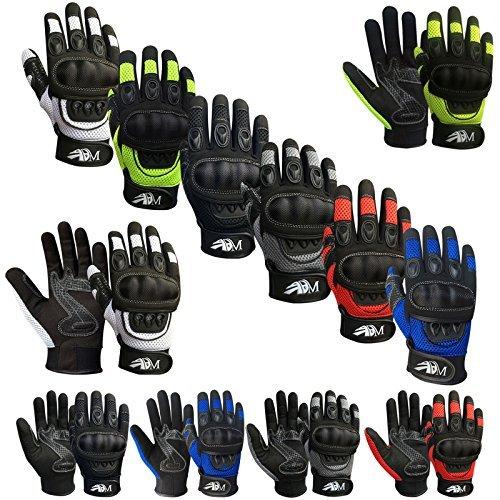 Prime Ganzer Finger Motorrad Sport Reiten Mountainbike Schutz Sommer Handschuhe 9001 - Schwarz/weiß, Medium