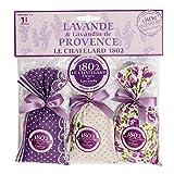 Set 3 Duftsäckchen mit Lavendel & Lavandin Beutel im lila Design, je Säckchen 18 g