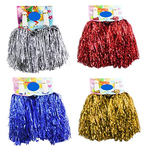 CRIVERS 1 Dutzend Cheerleader-Pompons Cheerleader-Pompons für Ball, Tanz, Kostüm, Party, Sport, Mixed,50g
