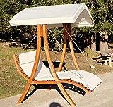 Design Hollywoodschaukel Doppelliege mit Dach Modell ′ARUBA′ - 7