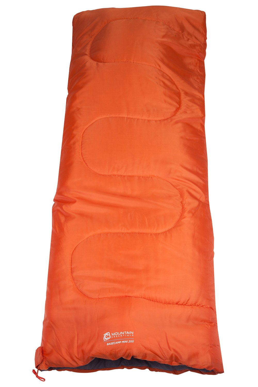 Mountain Warehouse Basecamp 200 Mini Sleeping Bag - 2 Season, 160 * 65cm, Insulated Kids Travel Sleep Essential 1