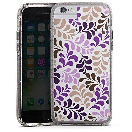 Apple iPhone 6s Bumper Hülle Bumper Case Glitzer Hülle Ornamente Verpixelte Muster Muster Bumper Case Glitzer rose gold