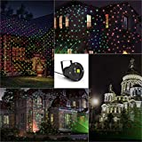 [UK Warehouse Deal] Yehard Landscape Projector Kits LED Remote Control Spotlights for Garden Stage Party (Red & Green)