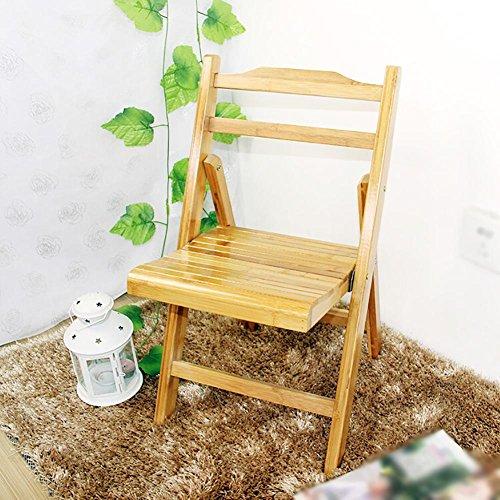 KSUNGB Klappbarer Stuhl aus Holz Bambus tragbar Ergonomie Wohnzimmer Stühle/Hocker Essensstuhl...