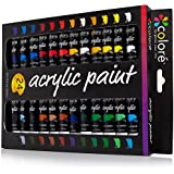 Colore Acrylic Paint Set - Perfect For Painting Canvas, Wood, Clay, Fabric, Nail Art And Ceramic - Rich Pigments With Lasting Quality - Great For Beginners, Students & Professional Artist - 24 Colors by Colore