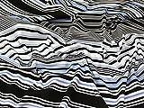 Streifen Print Scuba Stretch Jersey Kleid Stoff schwarz,