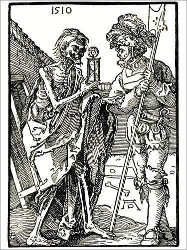 Posterlounge Acrylglasbild 90 x 120 cm: Tod und Landsknecht von Albrecht Dürer/akg-Images -...