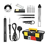 Andoer Meterk 14 in 1 Soldering Iron Kit 60W Adjustable Temperature Welding Soldering Iron with ON/OFF Switch 5pcs...