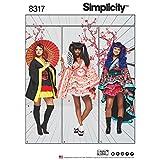 Simplicity Pattern 16-18-20-22-24Damen Kostüme Schnittmuster, weiß