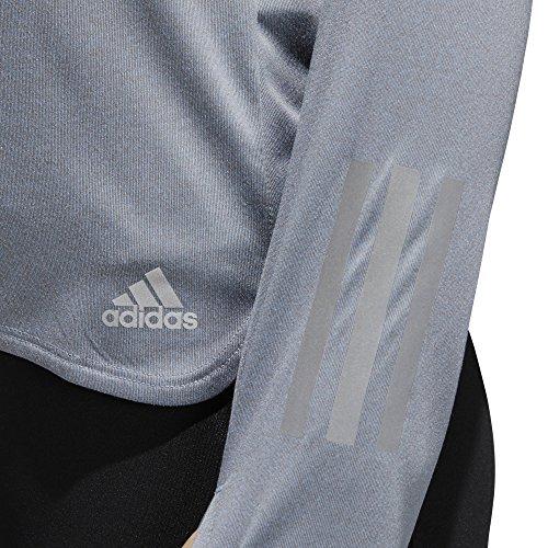 adidas Damen Response Zip Sweatshirt Raw Grey/Colored Heather