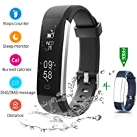 CHEREEKI Fitness Tracker, IP67 Impermeabile Orologio Smartwatch Sleep Monitor Leggi Messaggio da SMS, Whatsapp, Facebook…