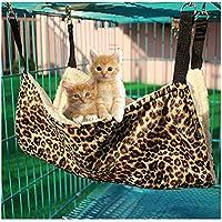 Bello Luna Estera Colgante Estampada Leopardo de la Cama de la Hamaca del Gato para el