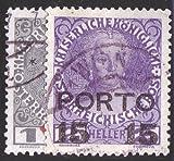 Goldhahn Österreich Portomarken 1916 Nr. 58-59 gestempelt Briefmarken für Sammler