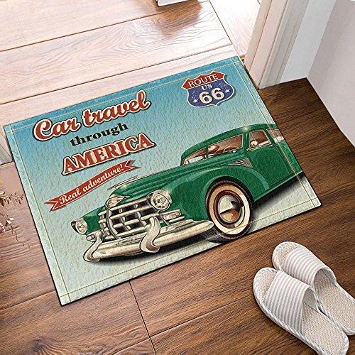 Nyngei Auto viaggio though America bagno tappeti antiscivolo zerbino Floor Entryways indoor outdoor Front Door Mat Kids scendibagno 60x 40cm da bagno.