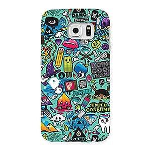 Impressive Premier candy Multicolor Back Case Cover for Samsung Galaxy S6