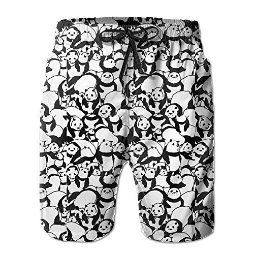 3d729222f3 Funny&shirt Panda Carton Men's/Boys Casual Quick-Drying Bath Suits Elastic  Waist Beach Pants