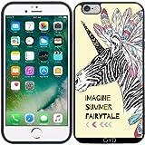 Coque Silicone pour Iphone 6/6S Plus - Fantaisie Zèbre Licorne by Olga Angelloz Design