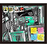 ArtzFolio Abstract Digital Artwork Printed Bulletin Board Notice Pin Board cum Dark Brown Framed Painting 13.9 x 12inch