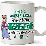 Mugffins Madrina Tazza/Mug - Questa Tazza Appartiene alla Miglior Madrina dell'Universo - Idea Regalo Giorno di Pasqua/Battes