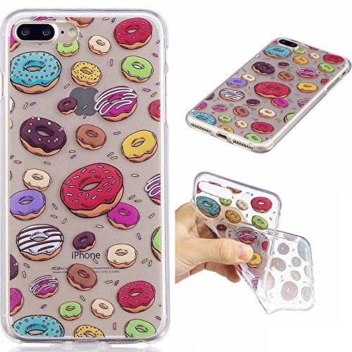 iPhone 7plus Fall, xinyiyi stoßfest Soft Shell Langlebig kratzfest iphone 7plus TPU Schutzhülle Donuts
