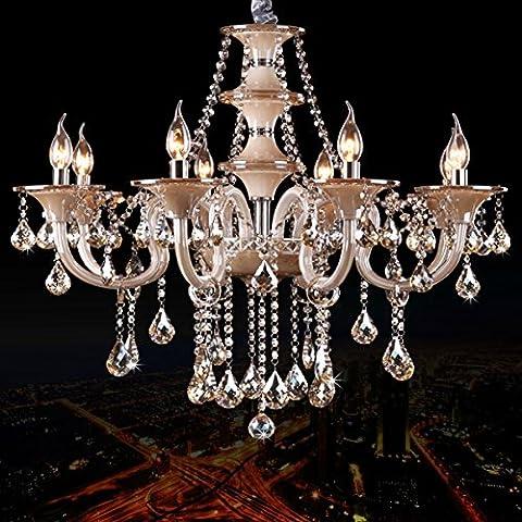 Tra Cognac di candela di cristallo lampadario in stile europeo soggiorno lampadario camera da letto sala da pranzo lampadario 8