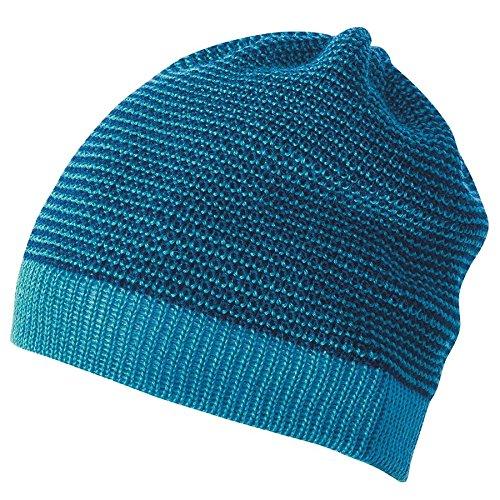Disana Beanie aus kbT-Merino-Schurwolle für Baby und Kinder (2=46-50 cm, Blau-Melange) Merino Winter Cap