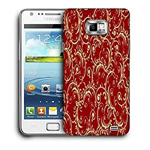 Snoogg Abstract Yellow Red Pattern Printed Protective Phone Back Case Cover For Samsung Galaxy S2 / S II