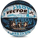 Vector X Power Basketball (Black-White-Blue)