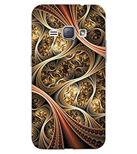ColourCraft Beautiful Pattern Design Back Case Cover for SAMSUNG GALAXY J1 DUOS (2016)