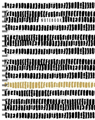 Noir-Blanc-Or Grand Carnet a Spirale (Ligne) par Collectif