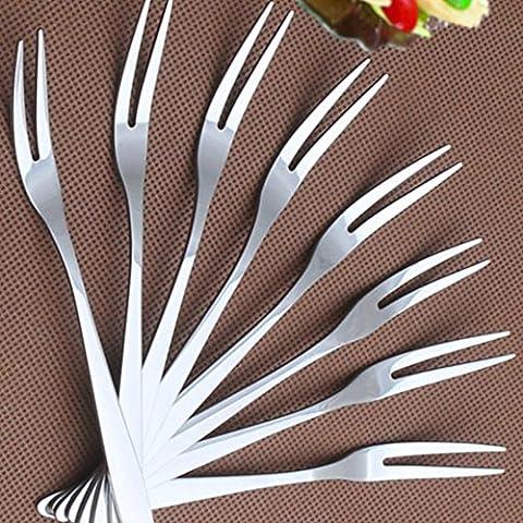 LIKECAR 10pcs creativa acciaio inossidabile della forcella della frutta cocktail Forche torta forchetta da dessert della forcella della coltelleria